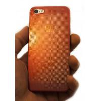 Чехол накладка Mobcase, алюминиевый, красный, для iPhone SE