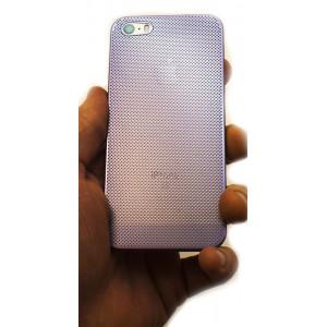 Чехол накладка Mobcase, алюминиевый, сиреневый, для iPhone SE