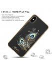 Чехол накладка прозрачная Kingxbar Exquisite Series Feather для iPhone X