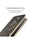 Чехол наклкадка золотой лотус Kingxbar Elegant Series Lotus для iPhone X