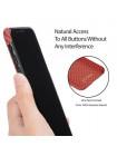Чехол Pitaka MagCase, карбоновый, красно-оранжевый для iPhone X