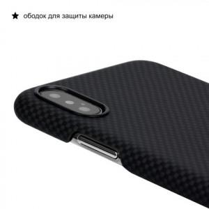 Чехол Pitaka MagCase шахматное плетение, карбоновый, чёрный для iPhone XS