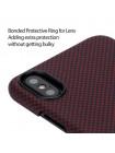 Чехол Pitaka MagCase шахматное плетение, красный, карбоновый для iPhone X