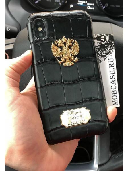 Эксклюзивный, именной чехол с гербом РФ Mobcase 540 для iPhone X, XS