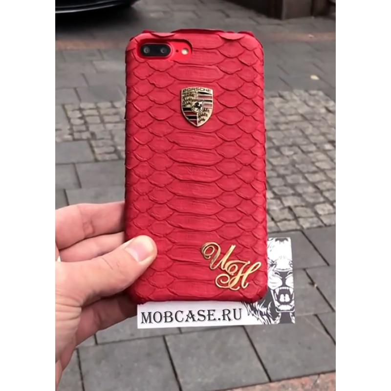 Эксклюзивный, именной чехол с логотипом Porsche Mobcase 542, для iPhone X, XS