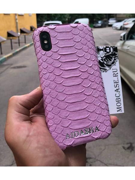 Эксклюзивный чехол, именной, кожаный Mobcase 523, для iPhone X, XS