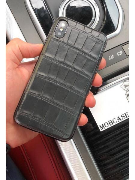 Эксклюзивный чехол, клип кейс, кожа крокодила Mobcase 536, для iPhone X, XS