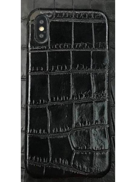 Эксклюзивный чехол Mobcase 460, кожаный, чёрный для iPhone X
