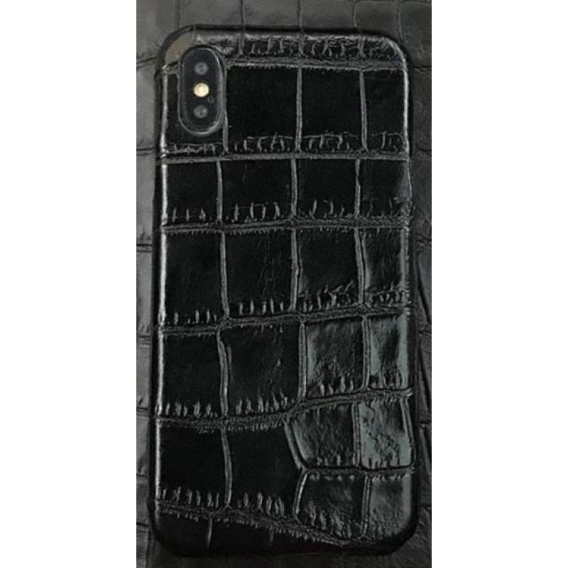 Эксклюзивный чехол Mobcase 460, кожаный, чёрный для iPhone X, XS