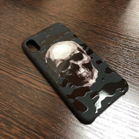 Эксклюзивный чехол Mobcase 461, с черепом, чёрный для iPhone X, XS