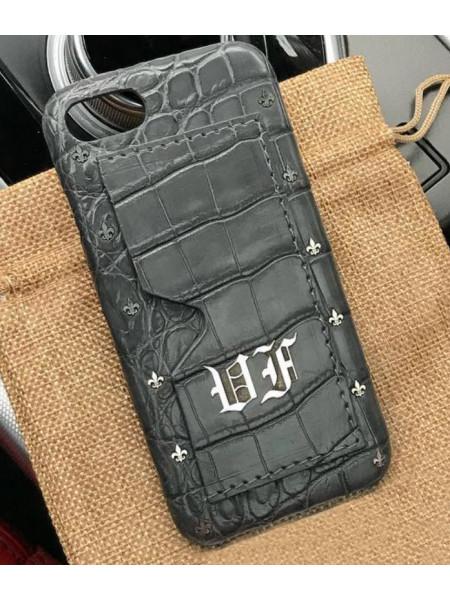 Эксклюзивный чехол Mobcase 465, кожаный с инициалами, для iPhone X