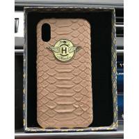 Эксклюзивный чехол Mobcase 470, кожаный, с логотипом, для iPhone X, XS