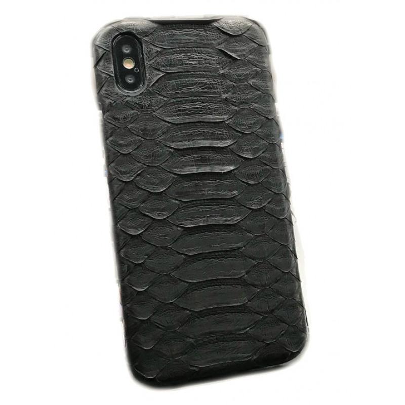 Эксклюзивный чехол Mobcase, 472, кожаный, чёрный, для iPhone X, XS