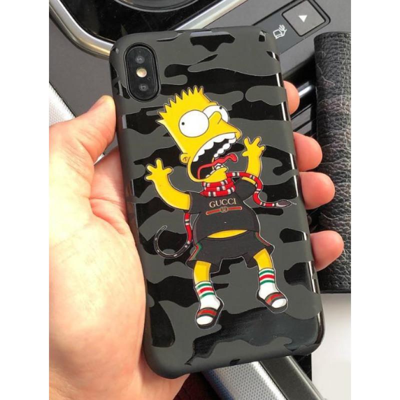 Эксклюзивный чехол Mobcase, 473, чёрный, Симпсоны, для iPhone X, XS