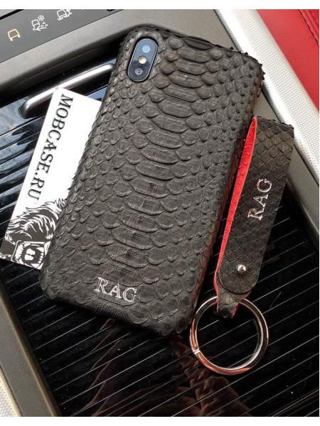 Эксклюзивный чехол, Mobcase 518, с инициалами, кожаный, для iPhone X, XS