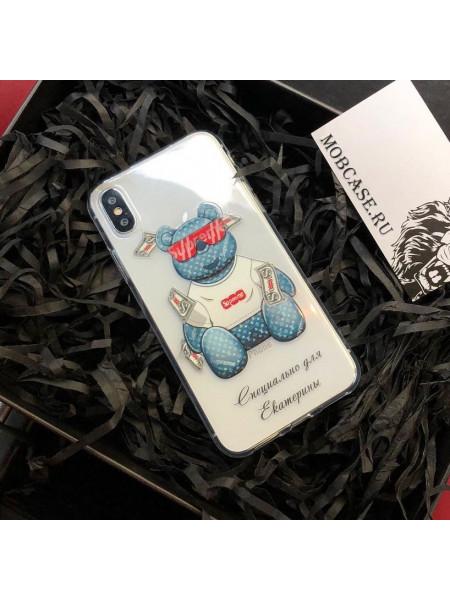 Эксклюзивный чехол, с принтом, Медведь Тедди Mobcase 525, для iPhone X, XS