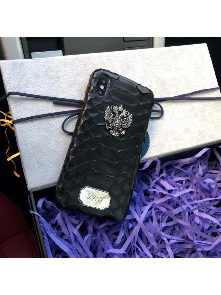 Эксклюзивный, именной чехол,  гербом России, кожаный Mobcase 609, для iPhone 7/8|7/8Plus|XXS|XSMAX|XR