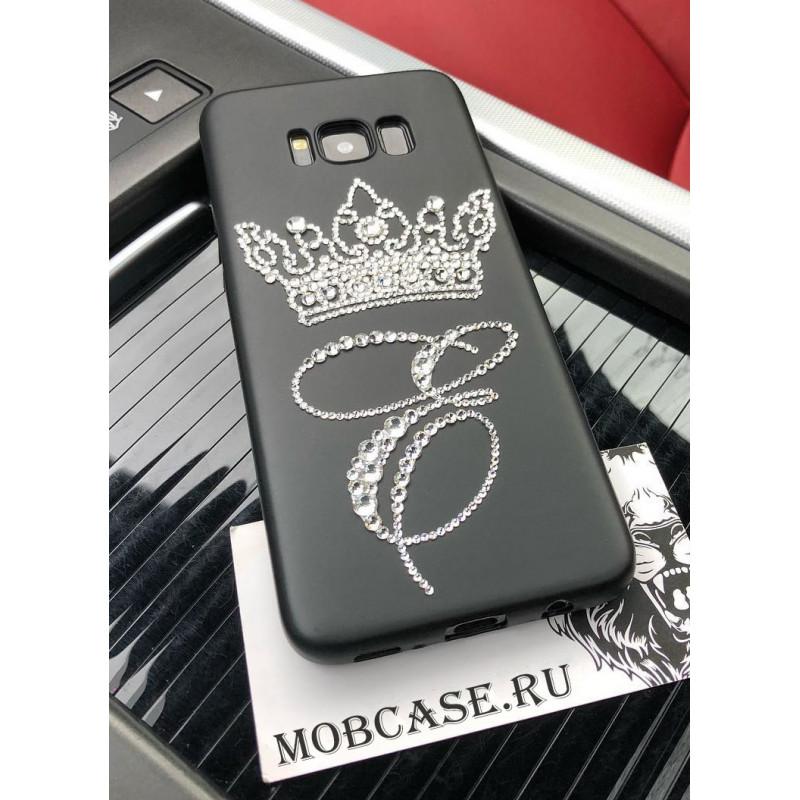 Эксклюзивный, именной клип кейс, с короной из кристаллов Mobcase 534, для iPhone X, XS