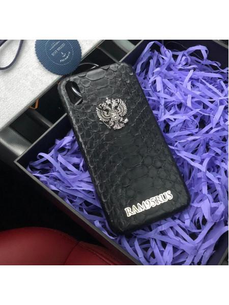 Именной, эксклюзивный чехол с гербом РФ, Mobcase 547, для iPhone X, XS