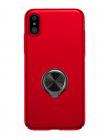 Чехол накладка красная с кольцом Baseus Ring Case для iPhone X