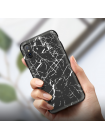 Чехол мраморный Rock, чёрный, для iPhone X