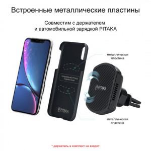 Чехол Pitaka MagCase шахматное плетение, карбоновый, чёрный для iPhone XR
