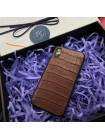 Дорогой чехол из коричневой, крокодиловой кожи Mobcase 590 для iPhone XR