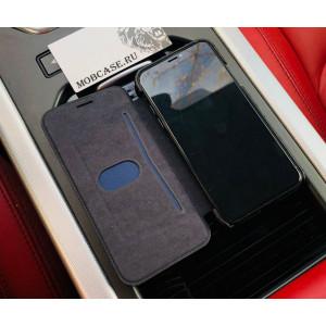 Именной чехол, книжка с металлическим гербом РФ Mobcase 564, для iPhone XR