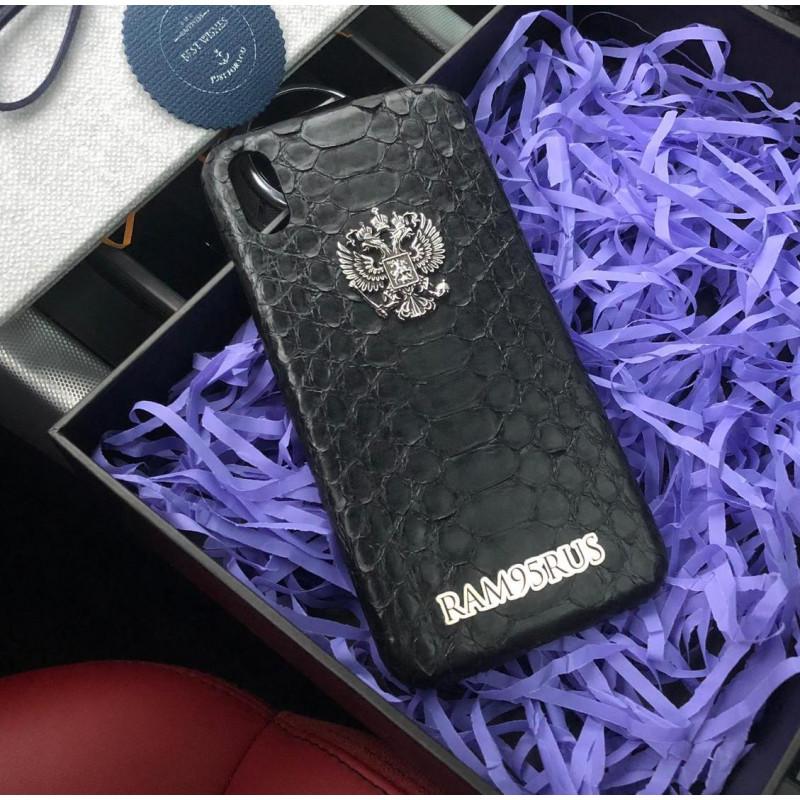 Именной, эксклюзивный чехол с гербом РФ, Mobcase 587, для iPhone XS MAX