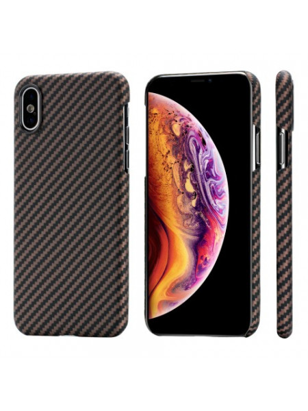 Чехол Pitaka MagCase, карбоновый, коричневый для iPhone XS