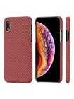Чехол Pitaka MagCase, карбоновый, красно-оранжевый для iPhone XS