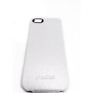 Чехол раскладушка, кожаный, Melkco, белый для iPhone 5, 5s