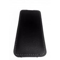 Чехол раскладушка, кожаный, Melkco, чёрный для iPhone 5, 5s