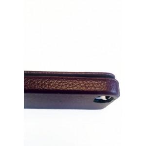 Чехол раскладушка, кожаный, Melkco, коричневый для iPhone 5, 5s