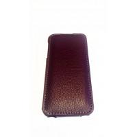 Чехол раскладушка, кожаный, Melkco, сиреневый для iPhone 5, 5s
