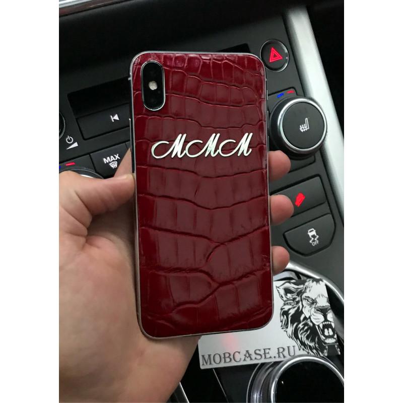 Моддинг iPhone, с инициалами из серебра, Mobcase 697 для iPhone