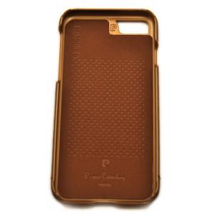 Чехол накладка Pierre Cardin, Old style, коричневая, на iPhone 7 — Кожаная