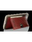 Чехол накладка Pierre Cardin, Wallet, красная, на iPhone 7 — Кожаная