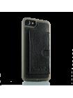 Чехол накладка Pierre Cardin Wallet чёрная на iPhone 7 — Кожаная