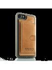 Чехол накладка Pierre Cardin Wallet коричневая на iPhone 7 — Кожаная