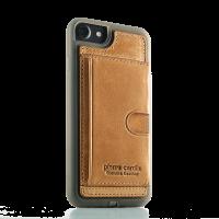 Чехол накладка Pierre Cardin, Wallet коричневый, для iPhone 7