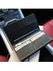 Премиум именной чехол кошелёк, портмоне, кожаный, чёрный для iPhone