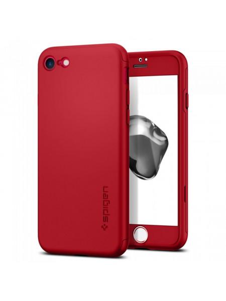 Чехол противоударный SPIGEN Air Fit 360 красный для iPhone 7