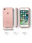 Чехол прозрачный SPIGEN Neo Hybrid Crystal Glitter для iPhone 7 — Розовое золото