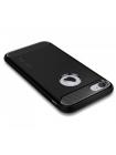 Чехол накладка чёрная, силиконовая Spigen Rugged Armor на iPhone 7 — Прочный