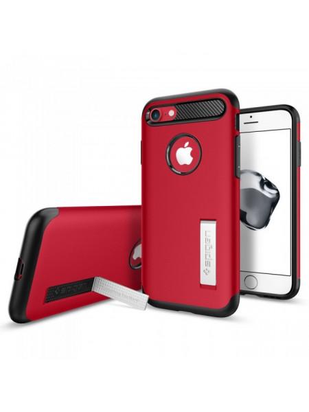 Чехол противоударный SPIGEN Slim Armor красный для iPhone 7