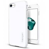 Чехол накладка Spigen Thin Fit белый на iPhone 7 — Тонкий 1.3 мм