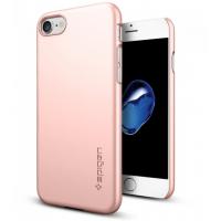 Чехол накладка Spigen Thin Fit розовое золото на iPhone 7 — Стильный