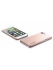 Чехол накладка Spigen, Thin Fit, розовое золото, на iPhone 7 — Стильный