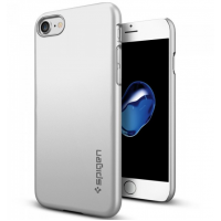 Чехол накладка Spigen Thin Fit серебристая на iPhone 7 — Тонкий 1.3 мм